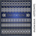 invitation with vintage borders.... | Shutterstock .eps vector #639524491