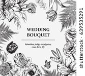 bouquet of flowers. floral... | Shutterstock .eps vector #639535291