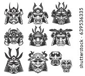 Set Of Samurai Masks And...