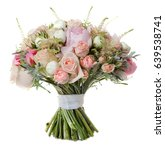 wedding bouquet isolated on... | Shutterstock . vector #639538741