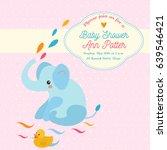 baby shower invitation card... | Shutterstock .eps vector #639546421