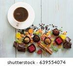 appetizing sweet  background... | Shutterstock . vector #639554074