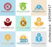 education initial letter k logo ...   Shutterstock .eps vector #639554917