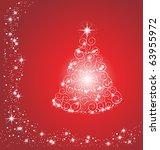 christmas tree | Shutterstock .eps vector #63955972