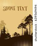 forest landscape  fir trees ...   Shutterstock .eps vector #639569494