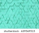 Abstract Triangle Pattern. 3d...