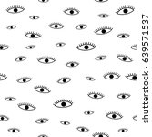 open eyes seamless pattern ... | Shutterstock .eps vector #639571537