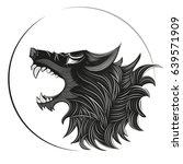 wolf head logo | Shutterstock .eps vector #639571909