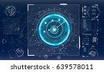 radar screen. vector...   Shutterstock .eps vector #639578011