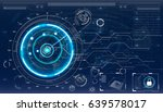 radar screen. vector... | Shutterstock .eps vector #639578017