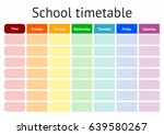 school timetable  a weekly... | Shutterstock .eps vector #639580267