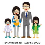 young east asian ethnicity... | Shutterstock .eps vector #639581929