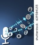 3d rendering pictogram voice... | Shutterstock . vector #639584155