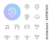 audio podcasting icons | Shutterstock .eps vector #639587641