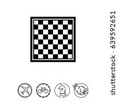 chess board icon | Shutterstock .eps vector #639592651
