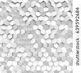 white texture hexagon. 3d... | Shutterstock . vector #639592684