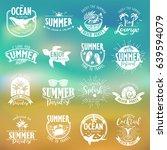 summer typography design... | Shutterstock .eps vector #639594079
