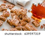 delicious maple fudge with... | Shutterstock . vector #639597319