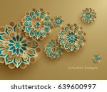paper graphic of islamic... | Shutterstock .eps vector #639600997