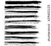 ink vector brush strokes set.... | Shutterstock .eps vector #639602125
