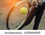 tennis sport racket  | Shutterstock . vector #639604909