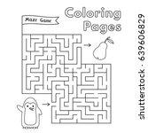 cartoon penguin maze game.... | Shutterstock .eps vector #639606829