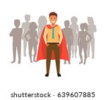 leader with his team.... | Shutterstock .eps vector #639607885