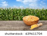 Uncooked Corn Seeds In Bowl...