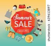 vector summer sale. special... | Shutterstock .eps vector #639613897