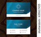 business card  vector | Shutterstock .eps vector #639617455