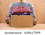 donation box for poor with... | Shutterstock . vector #639617599