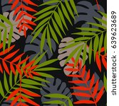 seamless pattern with tropical... | Shutterstock .eps vector #639623689