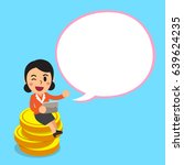cartoon businesswoman sitting... | Shutterstock .eps vector #639624235