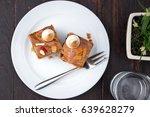 delicious fruit cake decorate... | Shutterstock . vector #639628279