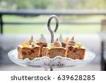 delicious fruit cake place on... | Shutterstock . vector #639628285