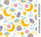 magic seamless pattern.... | Shutterstock .eps vector #639628324