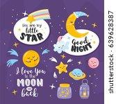 magic collection of scrapbook... | Shutterstock .eps vector #639628387
