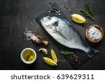 fresh fish dorado. dorado and... | Shutterstock . vector #639629311