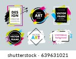 set of vector hand painted... | Shutterstock .eps vector #639631021
