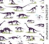 set  silhouettes  dino... | Shutterstock .eps vector #639635149