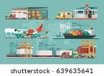 delivery service concept.... | Shutterstock .eps vector #639635641
