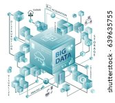 big data and cube design... | Shutterstock .eps vector #639635755
