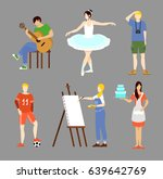colorful hobby collection with... | Shutterstock .eps vector #639642769