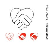 shaking hands vector icons... | Shutterstock .eps vector #639647911