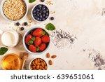 healthy breakfast   a bowl of... | Shutterstock . vector #639651061
