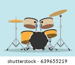 drum kit symbol   drums ... | Shutterstock .eps vector #639655219