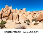 campground with picnic table... | Shutterstock . vector #639656524