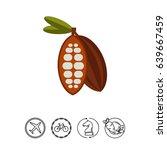 cocoa flat icon | Shutterstock .eps vector #639667459
