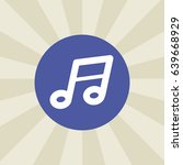 music note. icon. sign design....