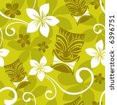 seamless luau tiki pattern | Shutterstock .eps vector #6396751